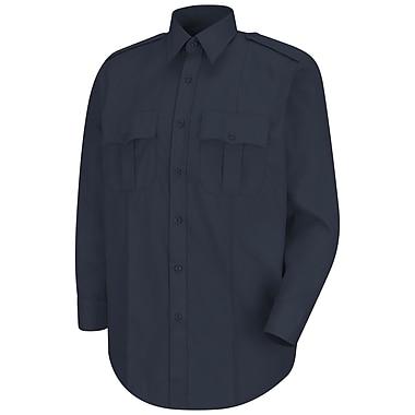 Horace Small Men's New Dimension Stretch Poplin Long Sleeve Shirt 165 x 36, Dark navy