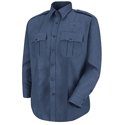 Horace Small Men's Sentry Long Sleeve Shirt 17 x 36, French blue heather