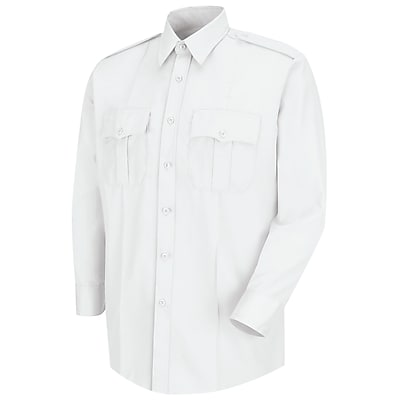 Horace Small Men's Deputy Deluxe Long Sleeve Shirt 185 x 33, White
