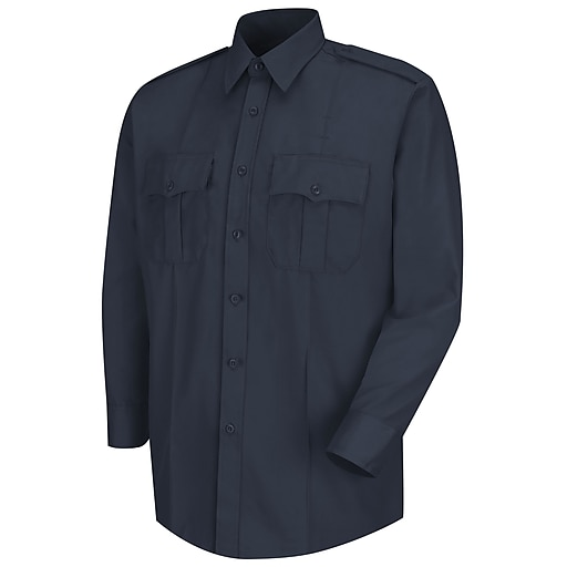 Horace Small Men's Deputy Deluxe Long Sleeve Shirt 185 x 33, Dark navy