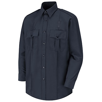 Horace Small Men's Sentry Action Option Long Sleeve Shirt 16 x 35, Dark navy