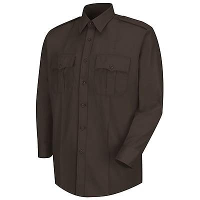 Horace Small Men's Deputy Deluxe Long Sleeve Shirt 185 x 38, Brown