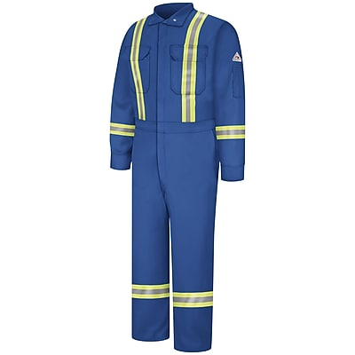 Bulwark Premium Coverall with Reflective Trim - Nomex IIIA RG x 38, Royal blue