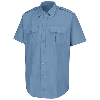 Horace Small Men's New Dimension Stretch Poplin Short Sleeve Shirt SS x 205, Light blue
