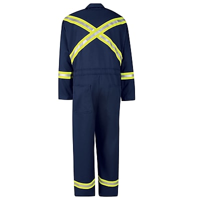 Bulwark Classic Coverall with Reflective Trim - EXCEL FR RG x 42, Navy