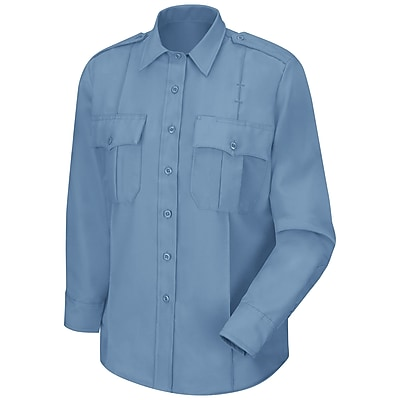 Horace Small Men's Sentry Long Sleeve Shirt 18 x 33, Medium blue
