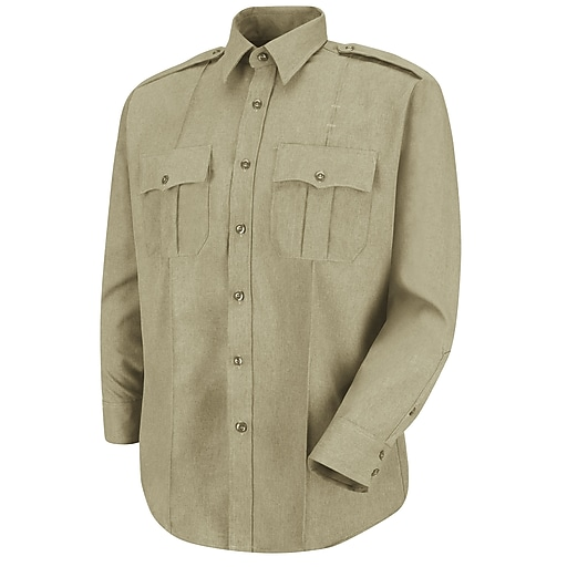 Horace Small Men's Sentry Long Sleeve Shirt 16 x 34, Silver tan