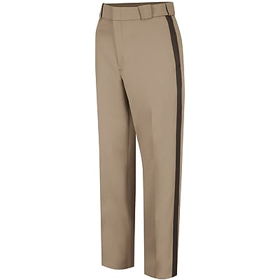 Horace Small Men's Virginia Sheriff Trouser 50R x 37U, Pink tan / brown stripe