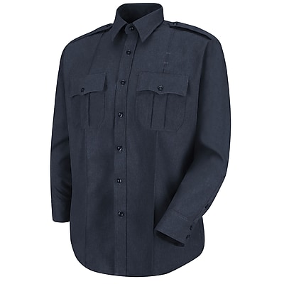 Horace Small Men's Sentry Plus Long Sleeve Shirt 165 x 35, Dark navy