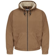 Bulwark  Men's Brown Duck Hooded Jacket - EXCEL FR  ComforTouch  RG x S, Brown duck