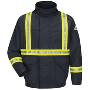 Bulwark® Lined Bomber Jacket With CSA Reflective Trim - EXCEL FR® ComforTouch® JLJCNVLNM