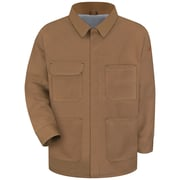 Bulwark® Men's Brown Duck Lineman's Coat - EXCEL FR® ComforTouch® JLC4BDLNXL
