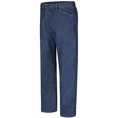 Bulwark Men's Classic Fit Pre-washed Denim Jean - EXCEL FR - 14.75 oz. 44 x 34, Blue denim
