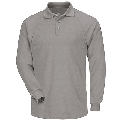 Bulwark Men's Classic Long Sleeve Polo - CoolTouch2 RG x M, Grey