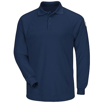 Bulwark Men's Classic Long Sleeve Polo - CoolTouch2 RG x XXL, Navy