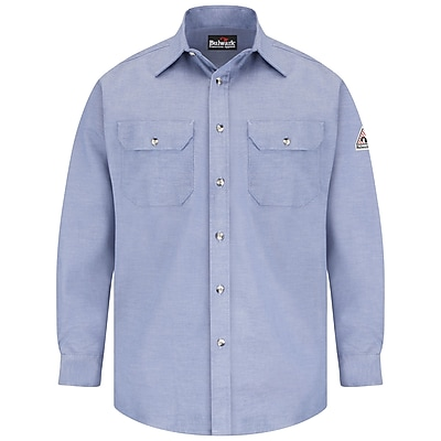 Bulwark Men's Uniform Shirt - EXCEL FR ComforTouch - 5.5 oz. RG x L, Chambray