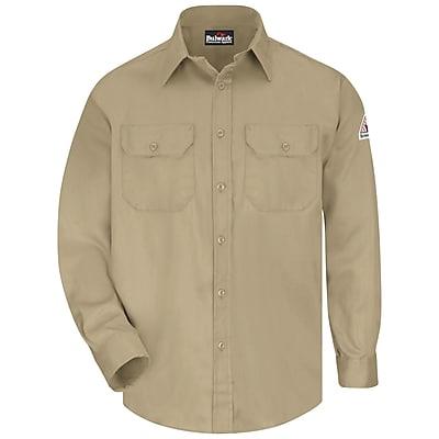 Bulwark Men's Uniform Shirt - EXCEL FR ComforTouch - 6 oz. RG x M, Khaki