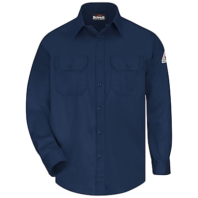 Bulwark Men's Uniform Shirt - EXCEL FR ComforTouch - 6 oz. RG x S, Navy