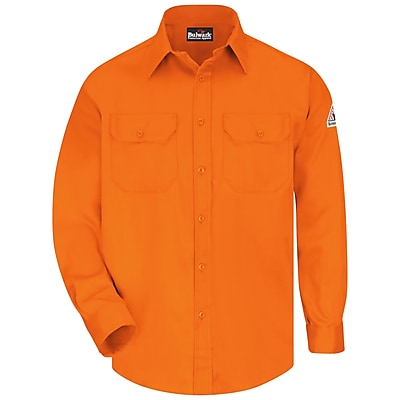 Bulwark Men's Uniform Shirt - EXCEL FR ComforTouch - 6 oz. RG x 3XL, Orange