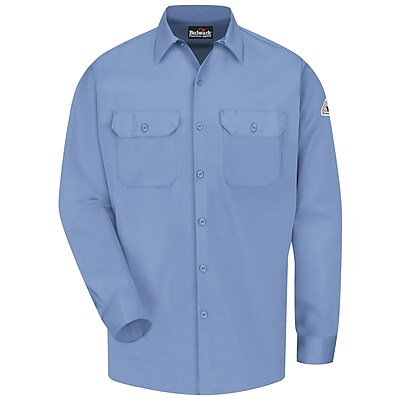 Bulwark Men's Work Shirt - EXCEL FR ComforTouch - 7 oz. RG x 3XL, Light blue