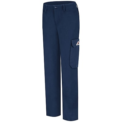 Bulwark Women's Cargo Pocket Pant - CoolTouch 2 - 7 oz. 16 x 34U, Navy