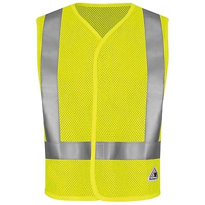 Bulwark Hi-Visibility Regular Mesh Safety Vest Yellow & Green, 3XL