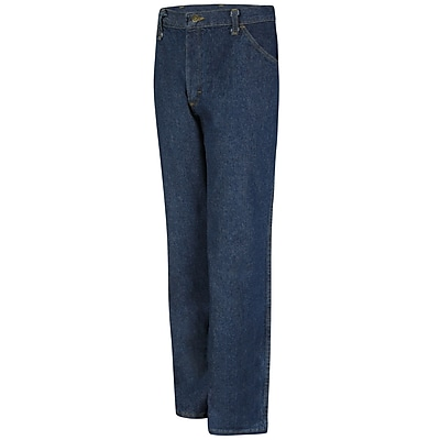 Red Kap Men's Classic Work Jean 42 x 34, Prewashed indigo