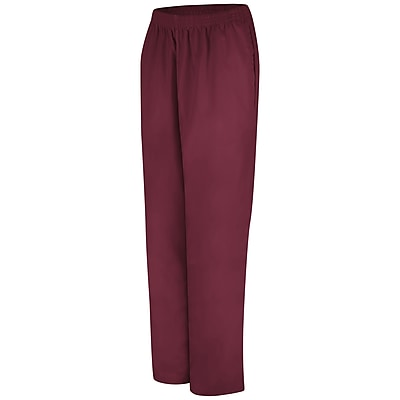 Red Kap Women's Easy Wear Poplin Slacks RG x 4XL, Burgundy