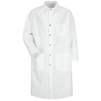 Red Kap Men's Full Cut Butcher Coat RG x M, White