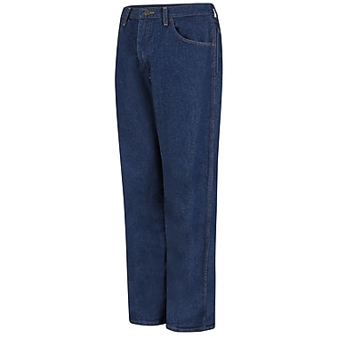 Red Kap Men's Relaxed Fit Jean 44 x 34, Prewashed indigo
