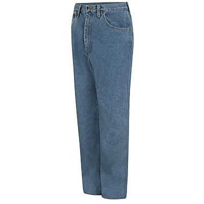Red Kap Men's Relaxed Fit Jean 48 x 37U, Stonewash