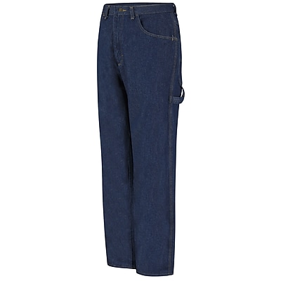 Red Kap Men's Loose Fit Dungaree 50 x 37U, Prewashed indigo