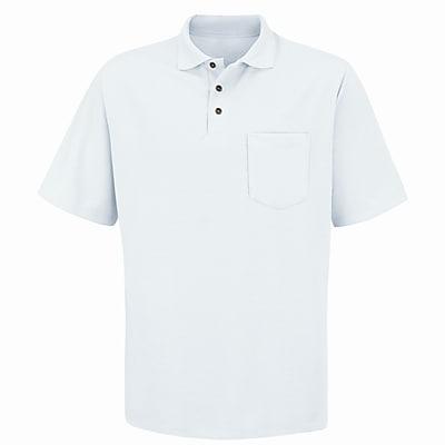 Red Kap Men's Performance Knit 50/50 Blend Solid Shirt SS x L, White