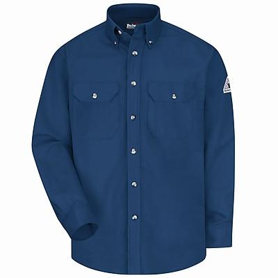Bulwark Men's Dress Uniform Shirt - EXCEL FR ComforTouch - 7 oz. RG x XXL, Navy