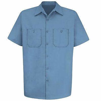 Red Kap Men's Wrinkle-Resistant Cotton Work Shirt SSL x 3XL, Postman blue