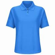 Red Kap Women's Cotton / Polyester Blend Pique Knit Shirt SS x XL, Royal blue