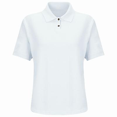 Red Kap Women's Cotton / Polyester Blend Pique Knit Shirt SS x L, White
