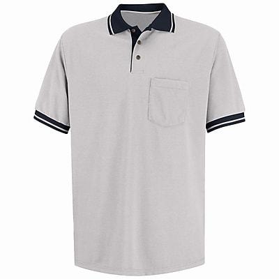Red Kap Men's Performance Knit Contrast Trim Shirt SS x XL, Tan / black
