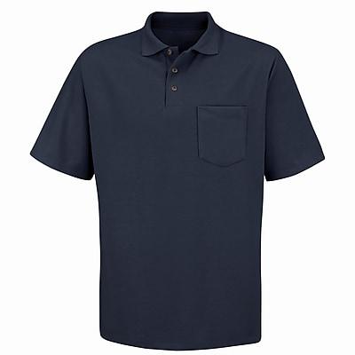 Red Kap Men's Performance Knit 50/50 Blend Solid Shirt SS x 3XL, Black