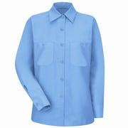 Red Kap Women's Industrial Work Shirt RG x 3XL, Light blue