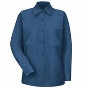 Red Kap Women's Industrial Work Shirt RG x 3XL, Navy
