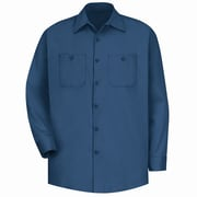 Red Kap Men's Wrinkle-Resistant Cotton Work Shirt LN x 3XL, Navy