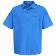Red Kap Men's Performance Knit Polyester Solid Shirt SS x 4XL, Royal blue