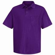 Red Kap Men's Performance Knit Polyester Solid Shirt SS x M, Burgundy