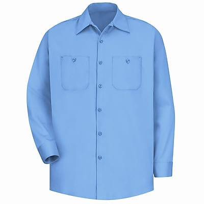 Red Kap Men's Wrinkle-Resistant Cotton Work Shirt XLN x 3XL, Light blue