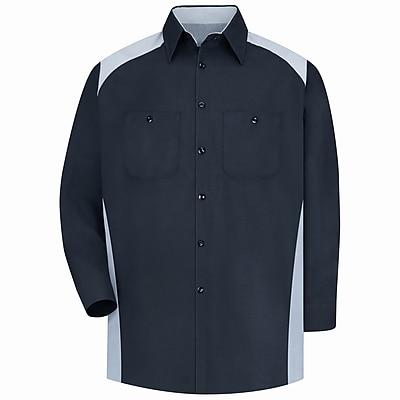 Red Kap Men's Motorsports Shirt RG x XL, Silver / black