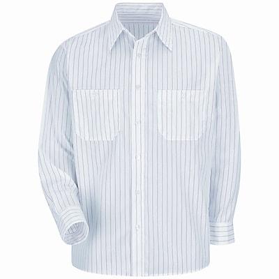 Red Kap Men's Striped Dress Uniform Shirt RG x XXL, Red / white stripe