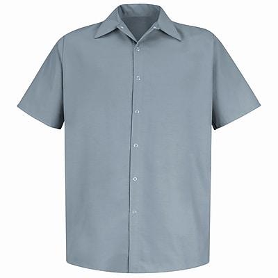 Red Kap Men's Specialized Pocketless Work Shirt SS x M, Light grey