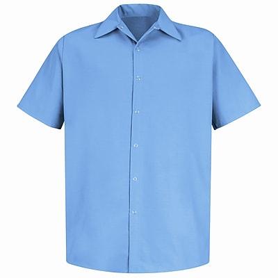 Red Kap Men's Specialized Pocketless Work Shirt SS x XXL, Light blue