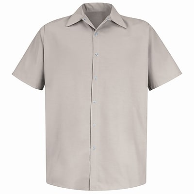 Red Kap Men's Specialized Pocketless Work Shirt SS x L, Light tan